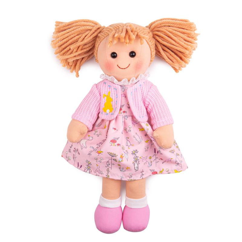Bigjigs Toys Látková panenka Ella 34 cm