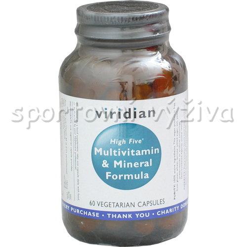 Časfitness Viridian High Five Multivitamin s vysokým obsahem vitamínu B5, D2,B12