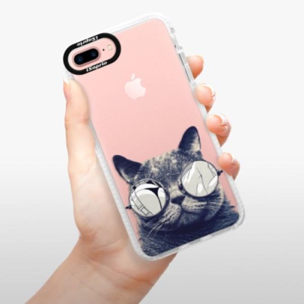 Silikonové pouzdro Bumper iSaprio - Crazy Cat 01 - iPhone 7 Plus
