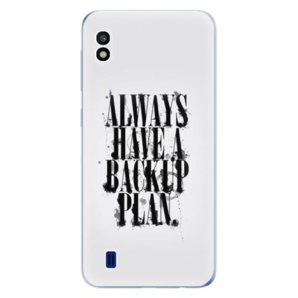 Odolné silikonové pouzdro iSaprio - Backup Plan - Samsung Galaxy A10