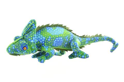 Plyš Leguán zelený