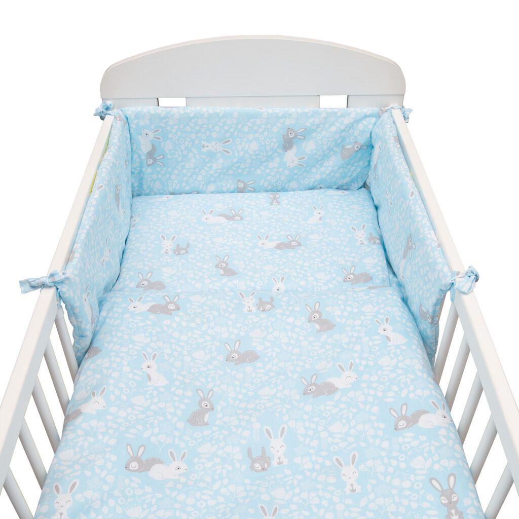 3-dílné ložní povlečení New Baby 90/120 cm - Králíčci - modrá