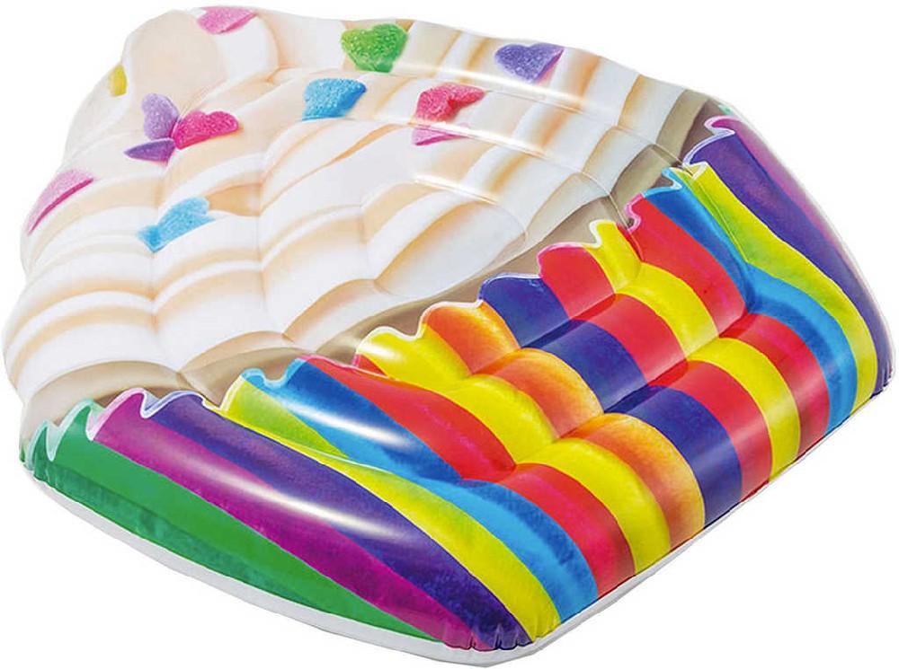 INTEX Lehátko muffin 142x135cm nafukovací dětská matrace na vodu 58770