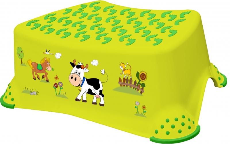 Keeeper Stolička, schůdek s protiskluzovou funkcí - Funny Farm - zelená