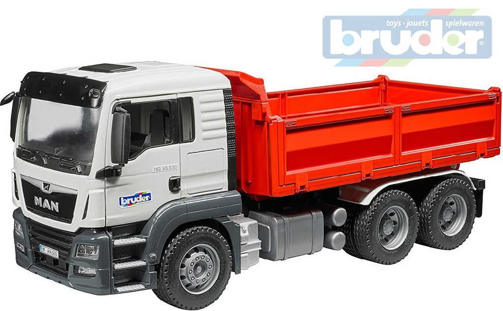 BRUDER 03765 (3765) Auto nákladní MAN TGS sklápěč funkční model 1:16 plast