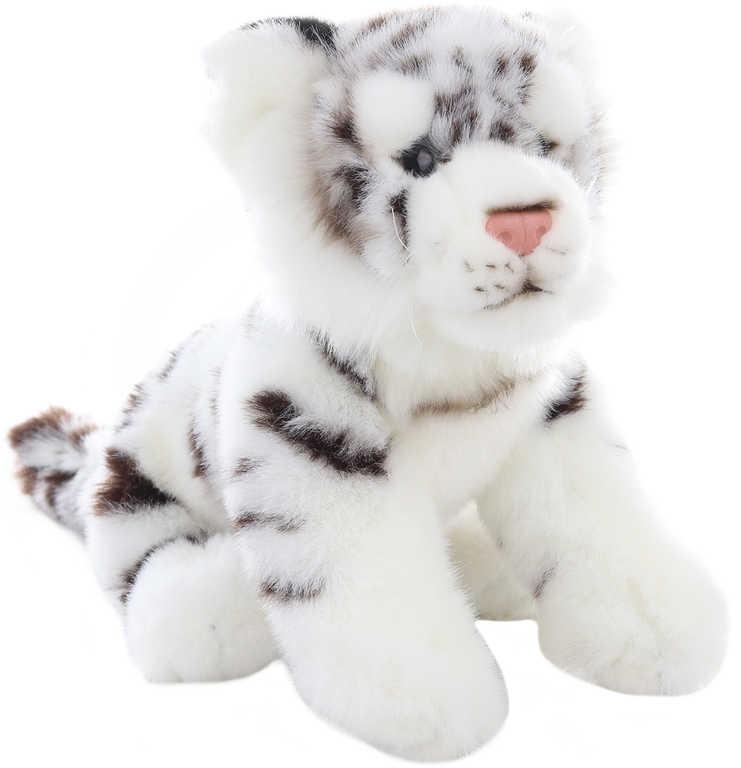 PLYŠ Tygřík bílý sedící 25cm mládě *PLYŠOVÉ HRAČKY*