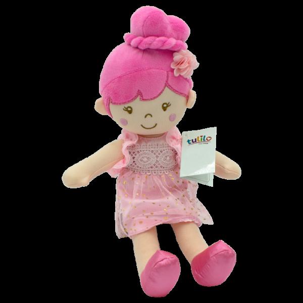 Hadrová panenka Soňa, Tulilo, 30 cm - růžová
