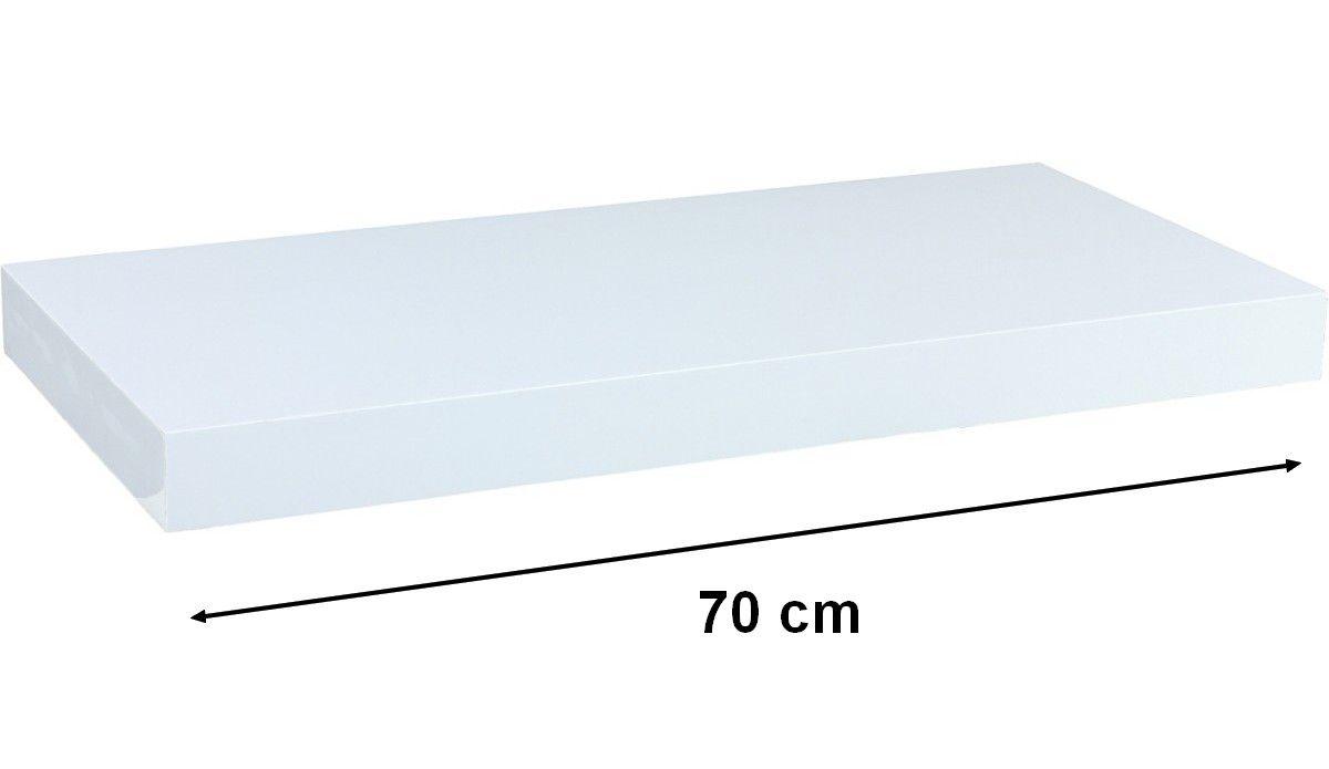 Nástěnná police STILISTA VOLATO - matná bílá 70 cm