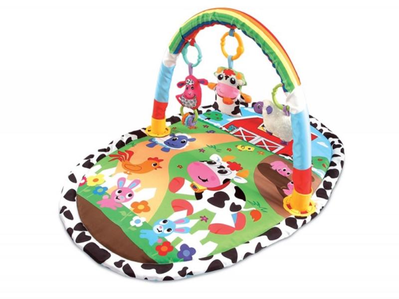 Vzdělávací hrací deka, 52x51x43cm ECO TOYS - Zvířatka