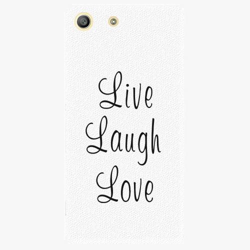 Plastový kryt iSaprio - Live Laugh Love - Sony Xperia M5