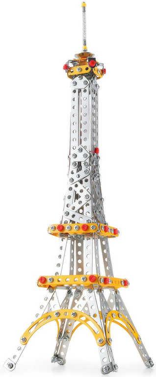 Stavebnice typu Merkur kovová Malý mechanik Eiffelova věž 447 dílků