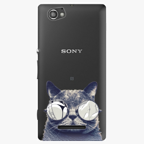 Plastový kryt iSaprio - Crazy Cat 01 - Sony Xperia M