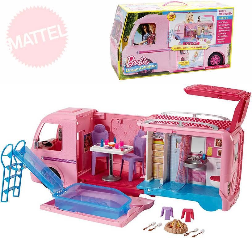 MATTEL BRB Karavan snů rozkládací set s doplňky pro panenky Barbie