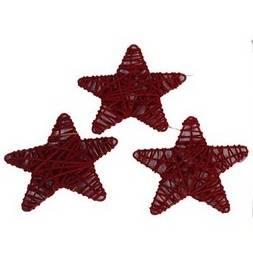 Červené hvězdičky 10 ks