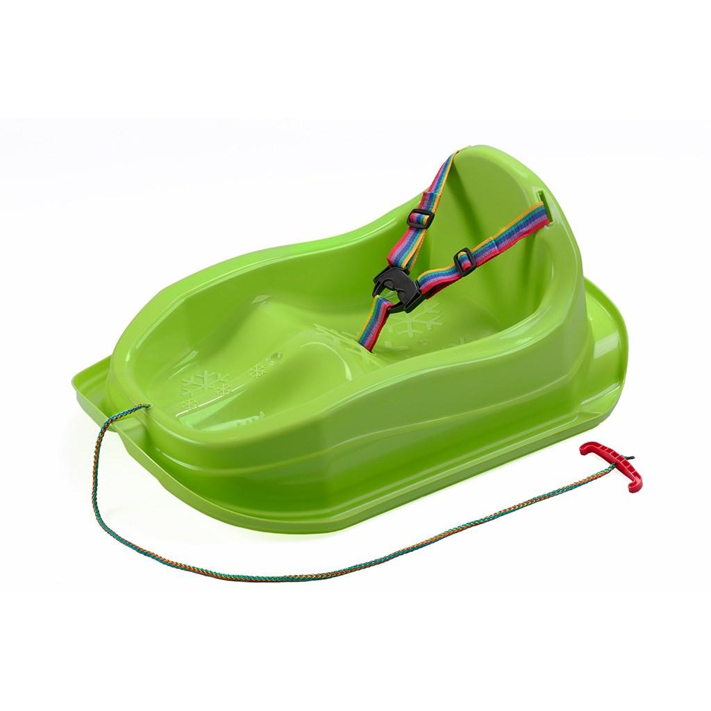 Plastové sáňky s opěradlem BAYO MINI - zelená