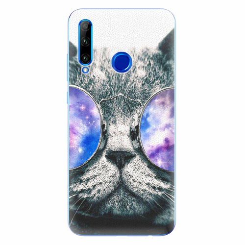 Silikonové pouzdro iSaprio - Galaxy Cat - Huawei Honor 20 Lite