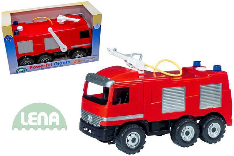 LENA Auto Mercedes hasič 70 cm 2028 (požární auto, stříká vodu)
