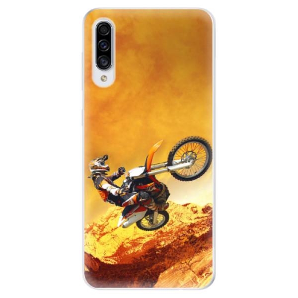 Odolné silikonové pouzdro iSaprio - Motocross - Samsung Galaxy A30s