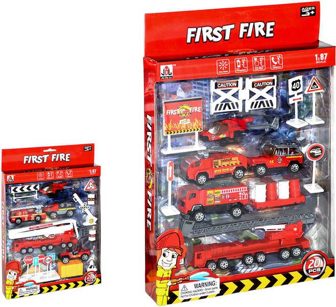Set hasičský sada Malý hasič 20 kusů 2 druhy 1:87