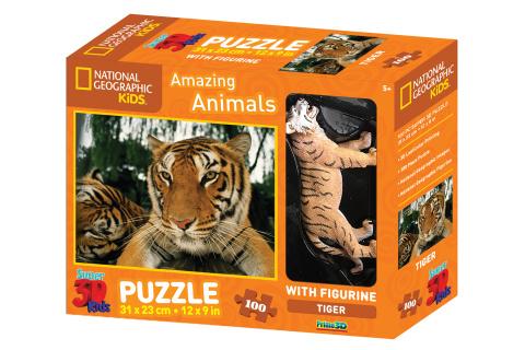 3D Puzzle Tygr 100 dílků figurka