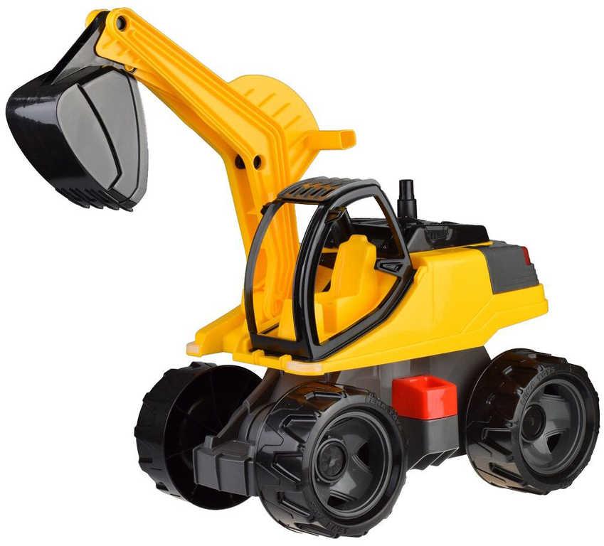 LENA Auto Bagr Giga Trucks žluto-černý plast odrážedlo 80cm na písek v krabici