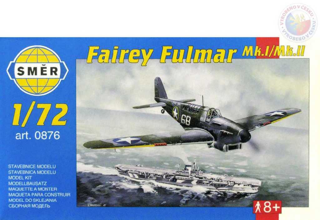 SMĚR Model letadlo Fairey Fulmar MkI/II 1:72 (stavebnice letadla)
