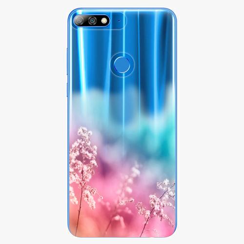 Silikonové pouzdro iSaprio - Rainbow Grass - Huawei Y7 Prime 2018