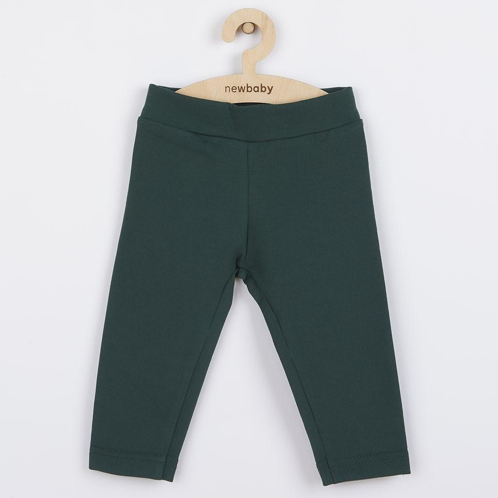 Kojenecké bavlněné legíny New Baby Leggings tmavě - zelená/62 (3-6m)