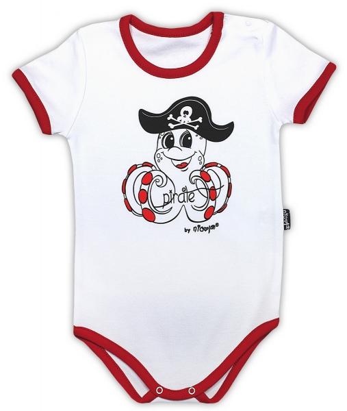 bavlnene-body-nicol-pirati-kratky-rukav-bila-cervena-86-12-18m