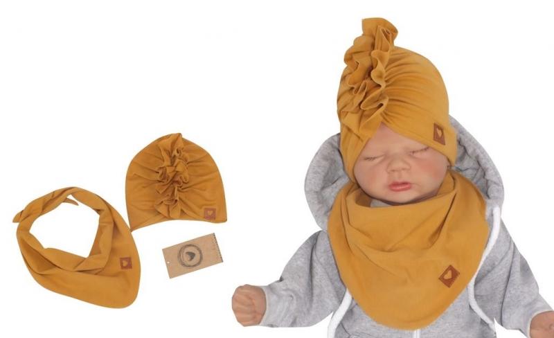 z-z-stylova-detska-jarni-podzimni-bavlnena-cepice-turban-s-satkem-medova-44-48cm-44-48-cepicky-obvod