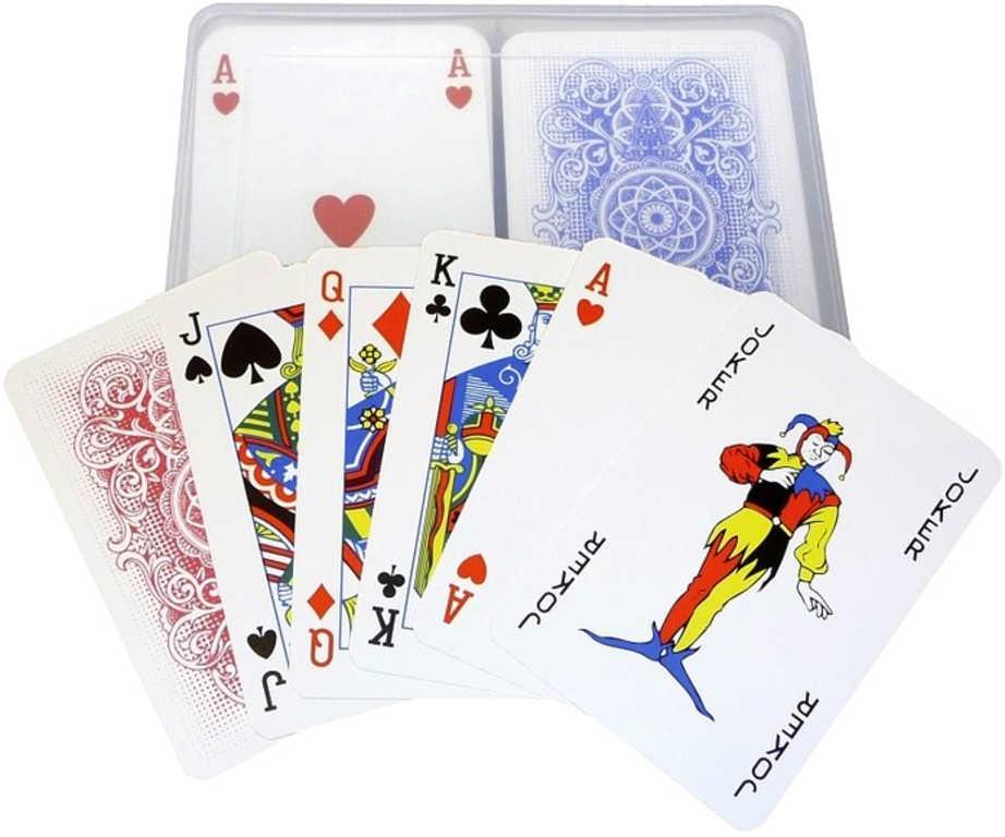 Hra Canasta hrací karty v plastové krabičce