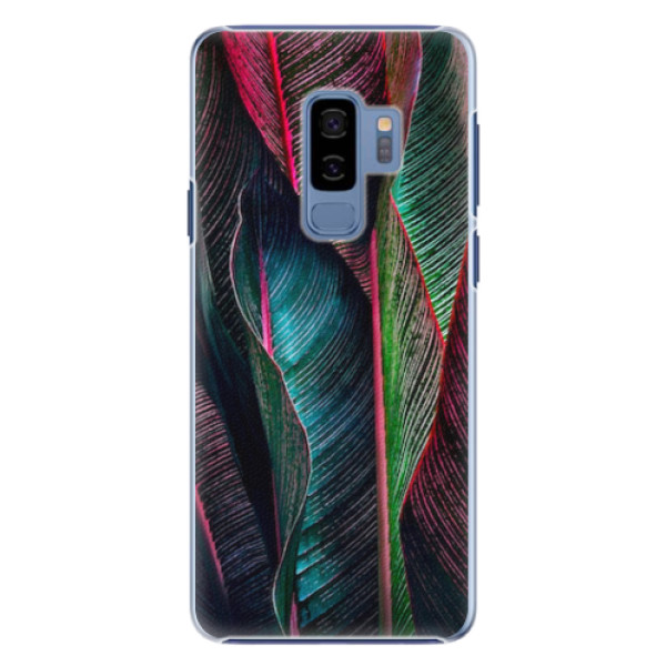 Plastové pouzdro iSaprio - Black Leaves - Samsung Galaxy S9 Plus