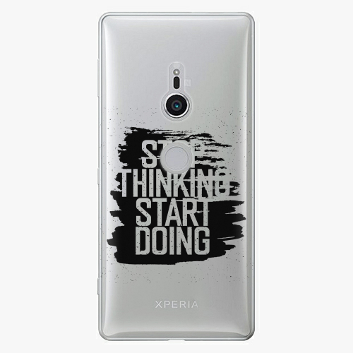 Plastový kryt iSaprio - Start Doing - black - Sony Xperia XZ2