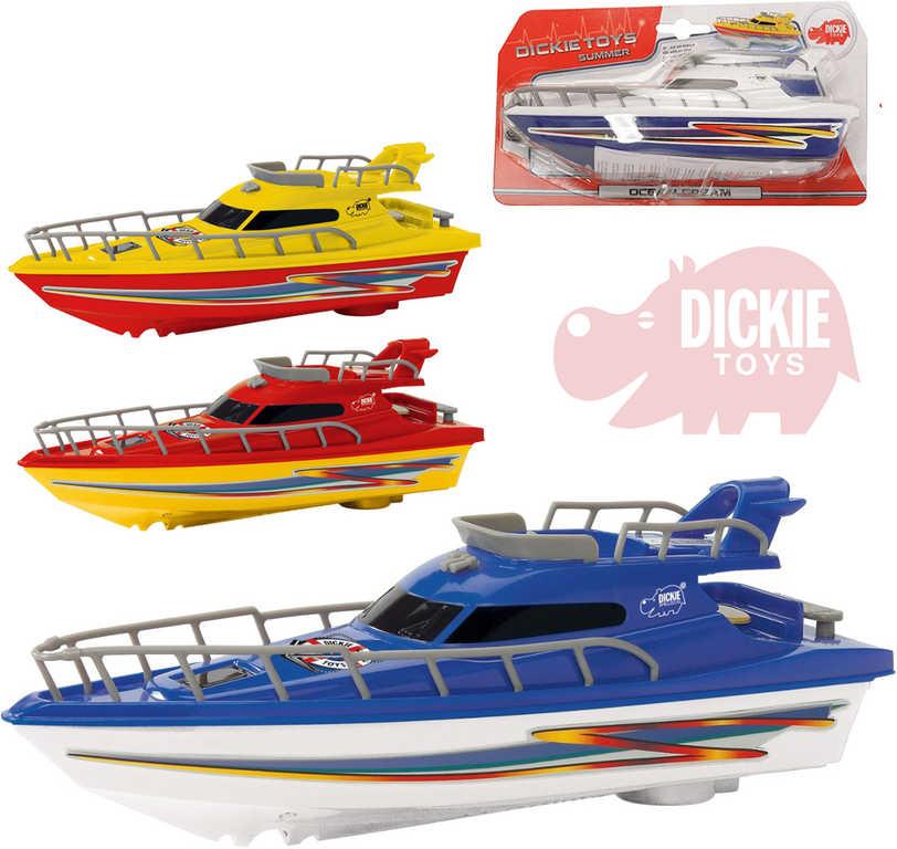DICKIE Jachta 23 cm plastová loďka Ocean Dream na baterie - 4 barvy