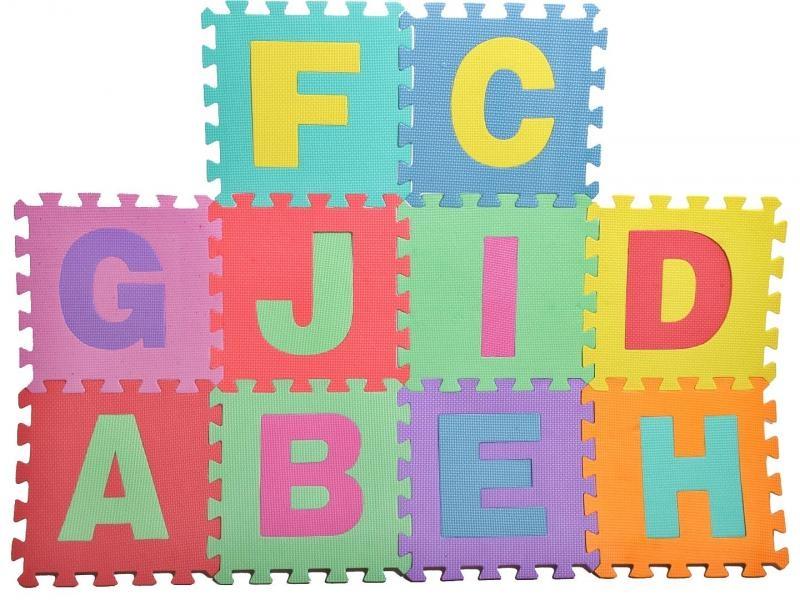 Tulimi Dětské pěnové puzzle 29 x 29 cm, Písmena - barevná