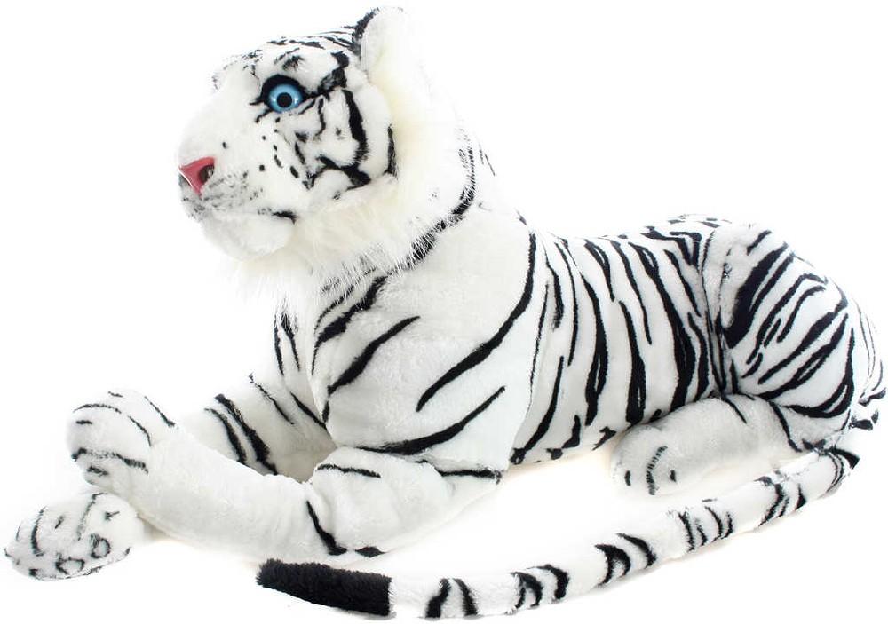 PLYŠ Tygr bílý ležící 70cm *PLYŠOVÉ HRAČKY*