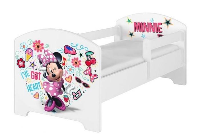 BabyBoo Dětská postel 140 x 70cm Disney - Minnie Music, bílá - 140x70