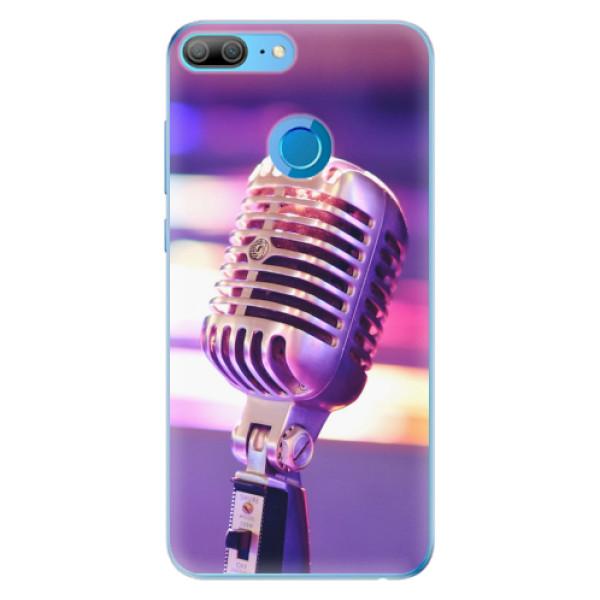 Odolné silikonové pouzdro iSaprio - Vintage Microphone - Huawei Honor 9 Lite