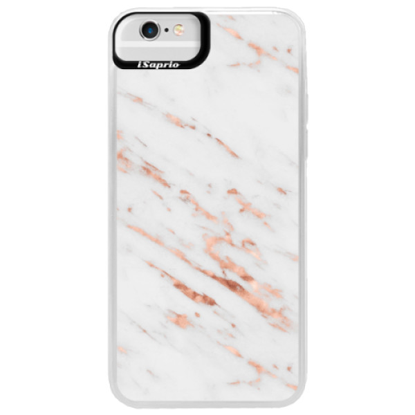 Neonové pouzdro Blue iSaprio - Rose Gold Marble - iPhone 6 Plus/6S Plus