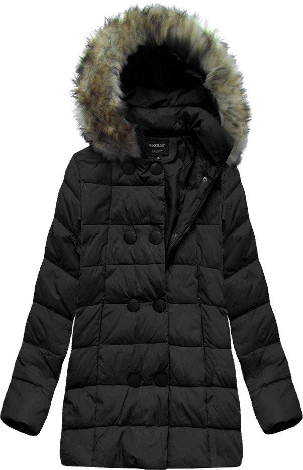 Černá prošívaná bunda s kapucí (1994)