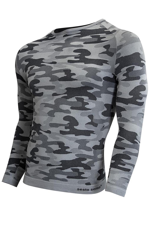 Termoaktivní triko s dlouhými rukávy Sesto Senso Militaria - Moro