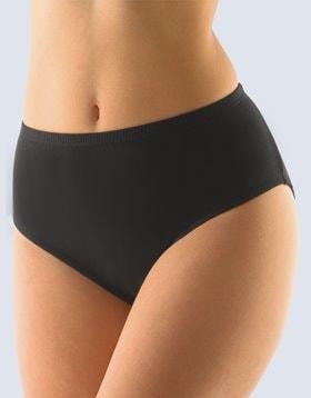 GINA dámské kalhotky klasické ve větších velikostech, větší velikosti, šité, jednobarevné 11056P - černá - 46/48