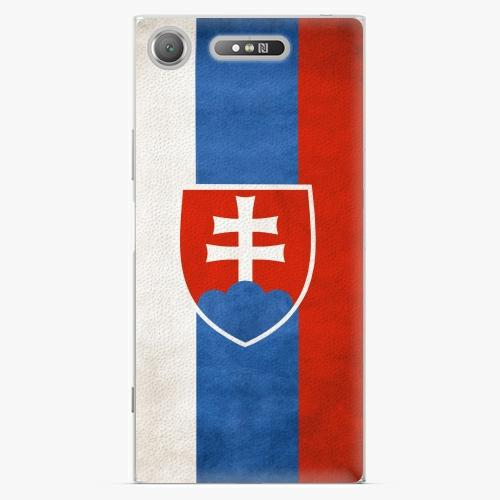 Plastový kryt iSaprio - Slovakia Flag - Sony Xperia XZ1