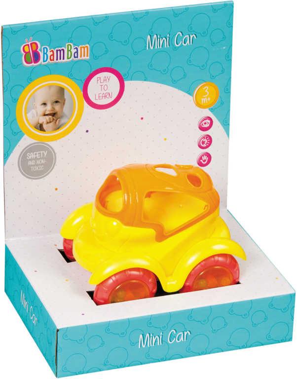 ET BAM BAM Baby mini autíčko různé druhy plast pro miminko