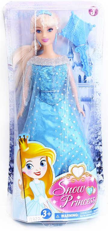 Panenka zimní království princezna 29 cm blondýnka set s doplňky v krabičce