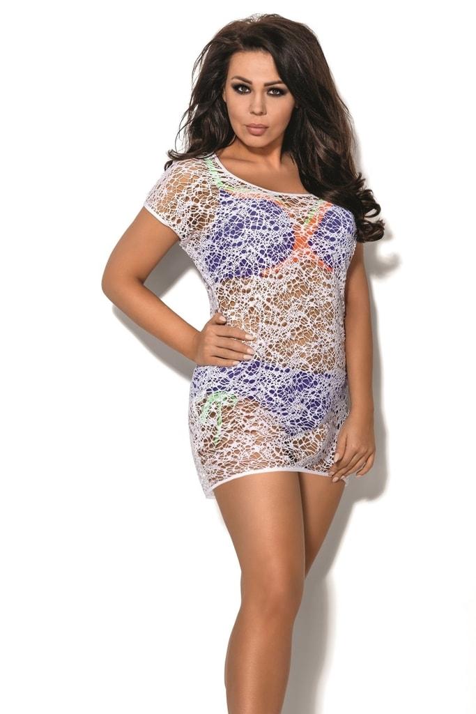 Plážové šaty SP2 plus white - XXL