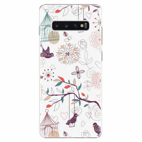 Plastový kryt iSaprio - Birds - Samsung Galaxy S10+