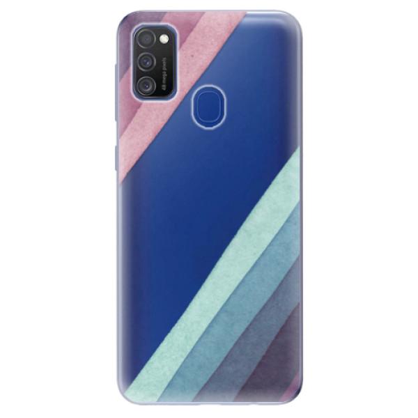 Odolné silikonové pouzdro iSaprio - Glitter Stripes 01 - Samsung Galaxy M21