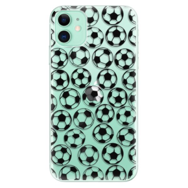 Odolné silikonové pouzdro iSaprio - Football pattern - black - iPhone 11