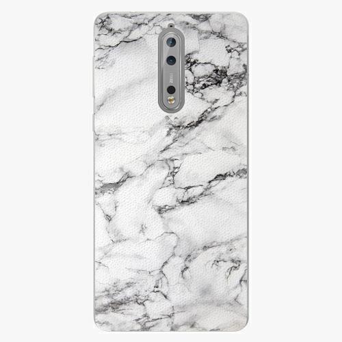 Plastový kryt iSaprio - White Marble 01 - Nokia 8